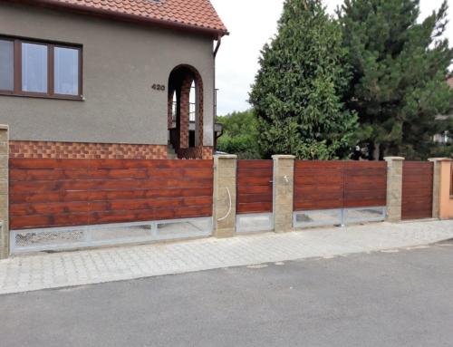 Vjezdová brána a branka Černčice